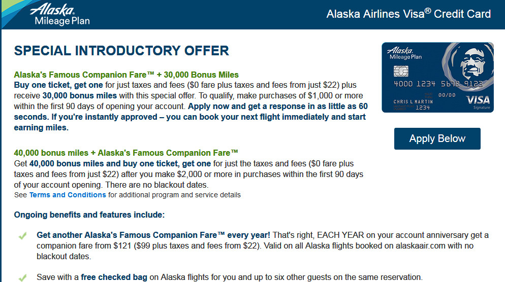 alaska airlines credit card annual fee