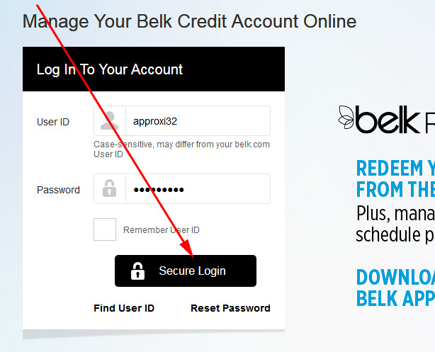 belk store credit card