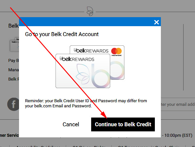 login to belk rewards credit card