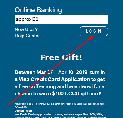 Coast CCU login