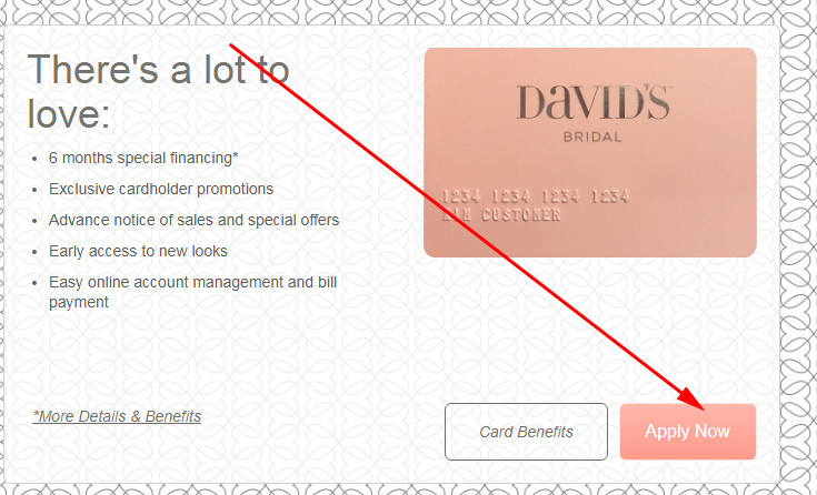 David's Bridal Credit Card rewards