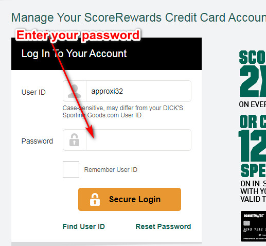 Dicks Sporting Goods Store Card Login