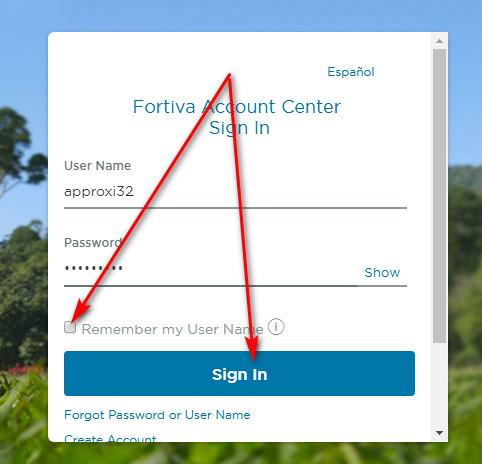 fortiva credit card login