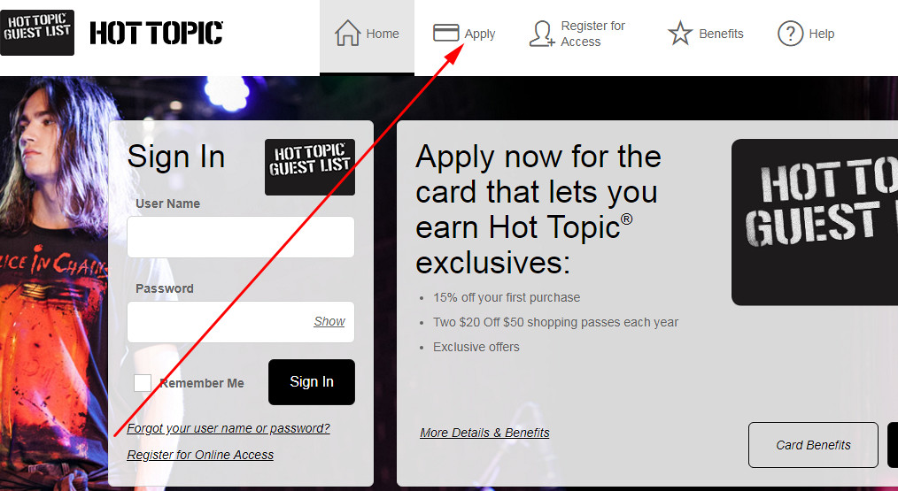 where can I use my hot topic credit card