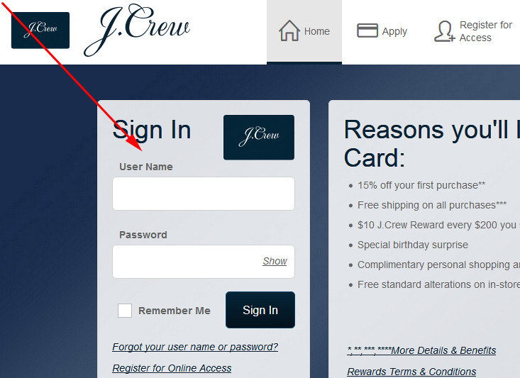 jcrew credit card review