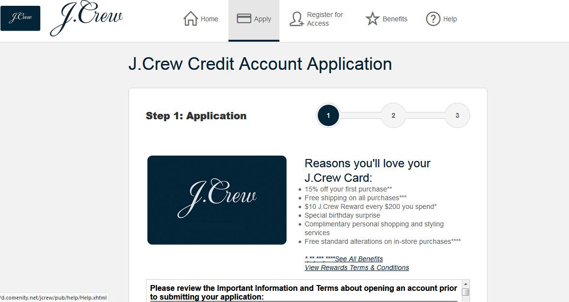 j crew credit card benefits