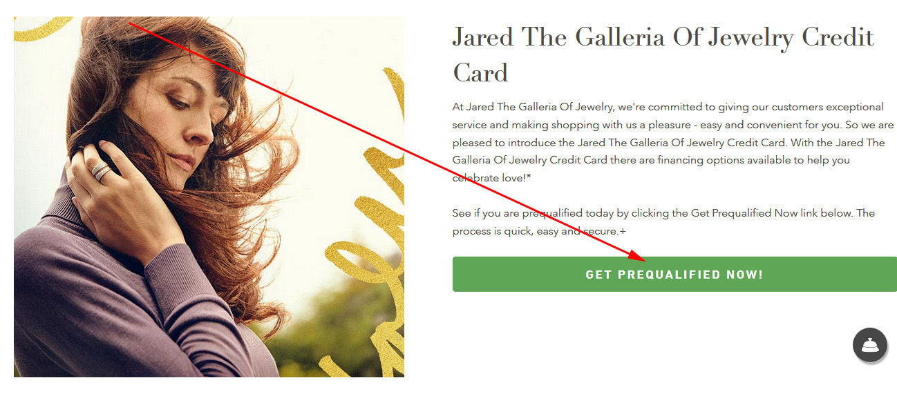 jared credit card payment