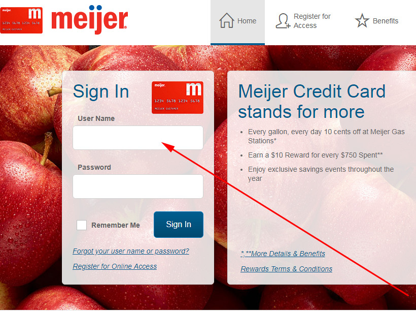 meijer credit card login