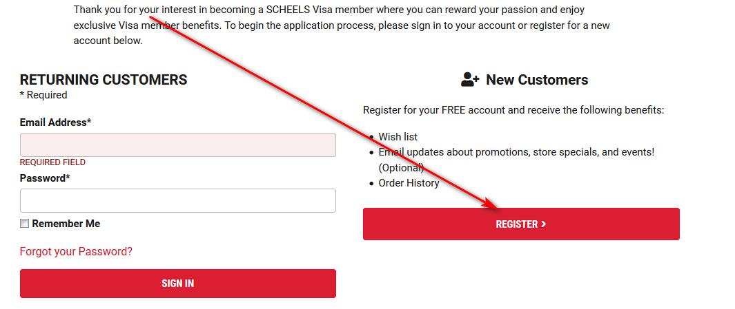 scheels credit card customer service