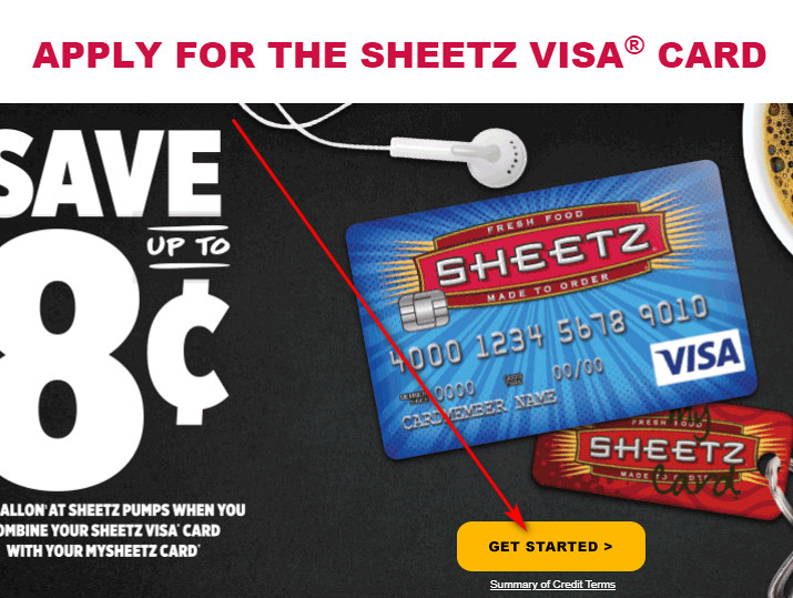 How to get a Sheetz Credit Card