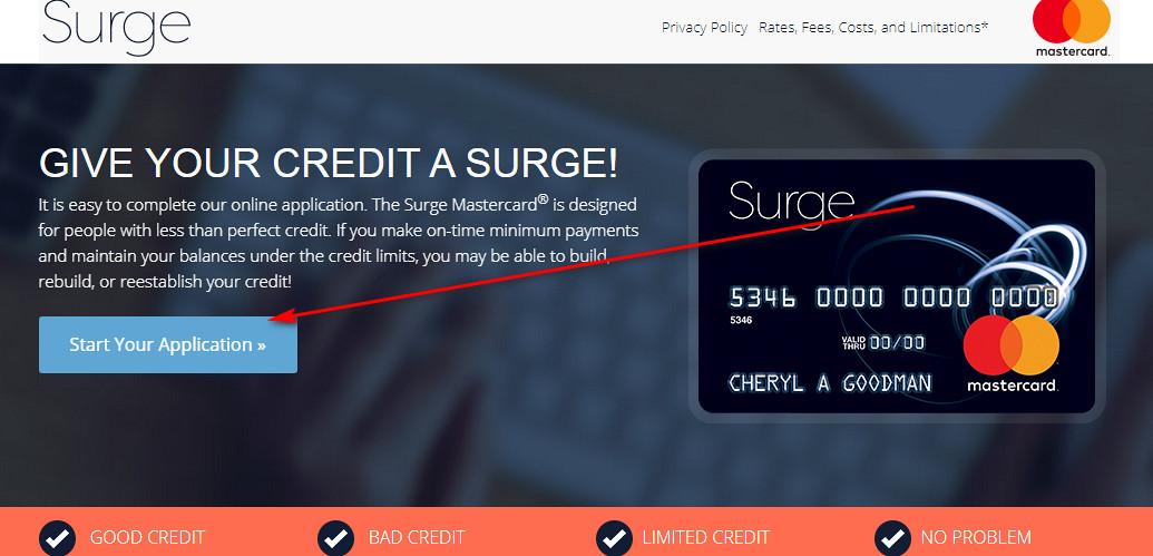surge mastercard login