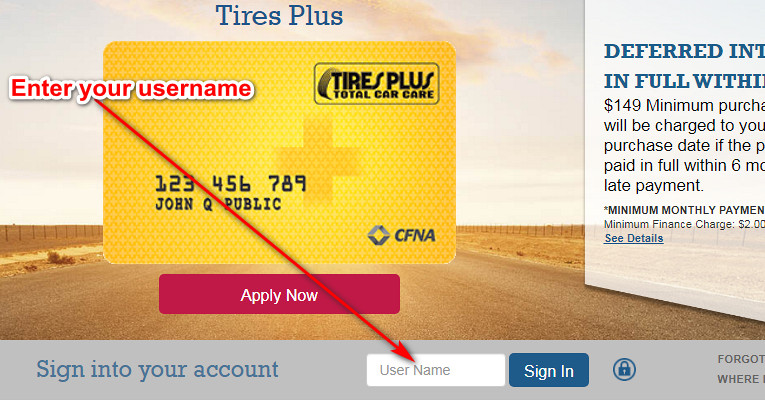 Tires Plus credit card login