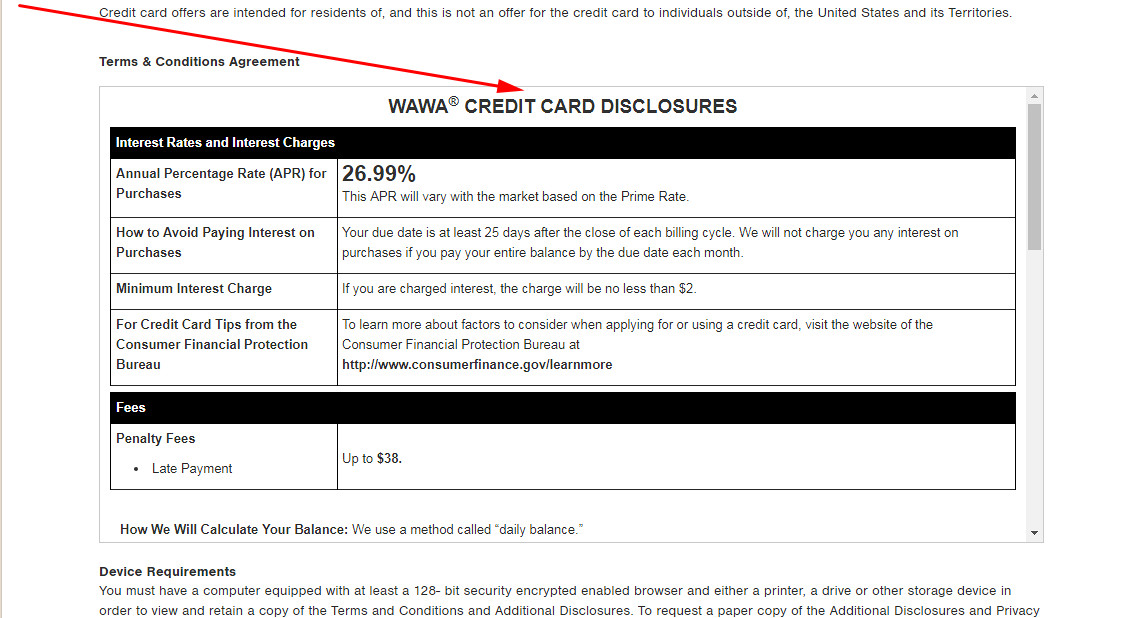 wawa credit card application