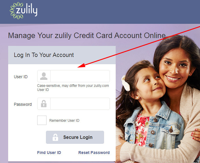 zulily credit card login