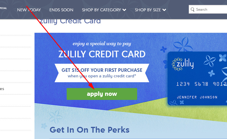 zulily credit card application