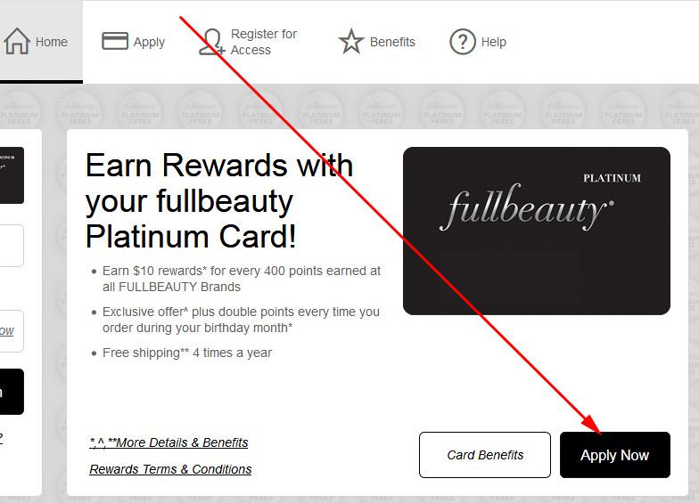 fullbeauty credit card application