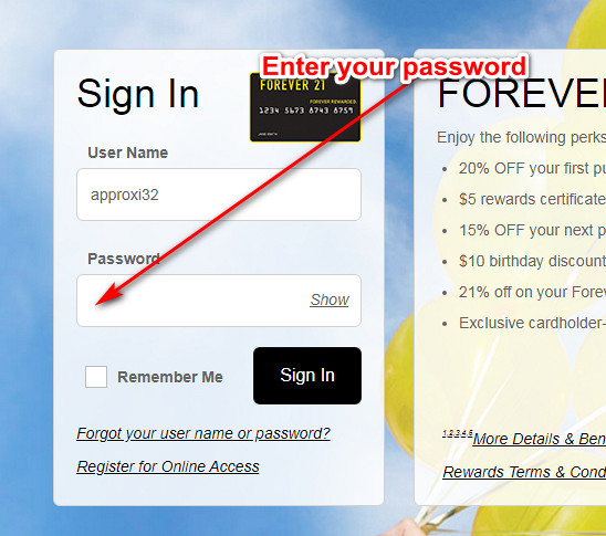 Forever 21 Credit Card Login