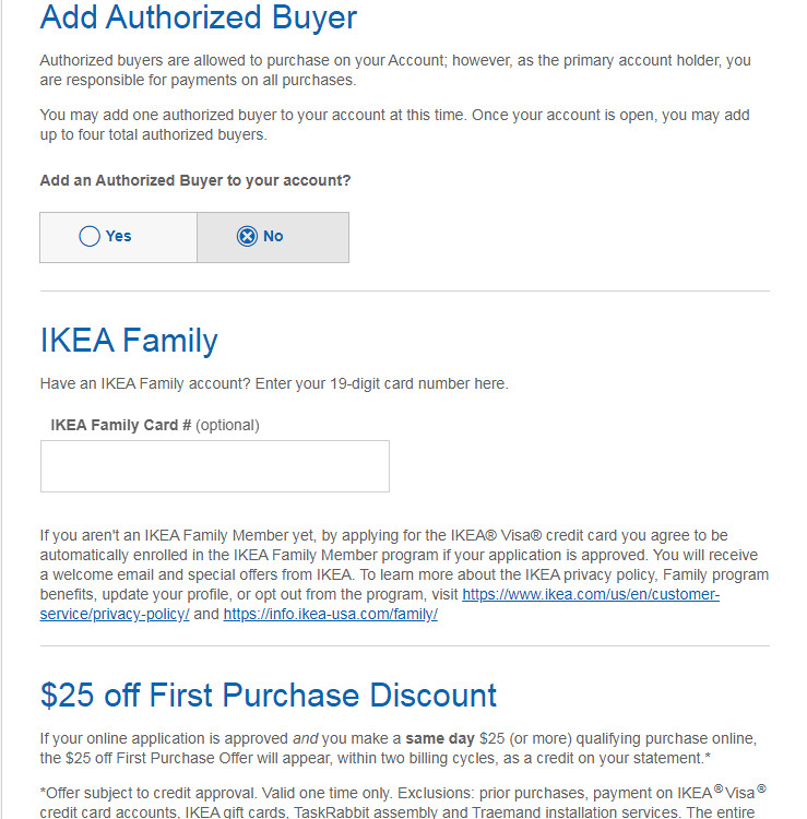 Apply for IKEA Visa Card